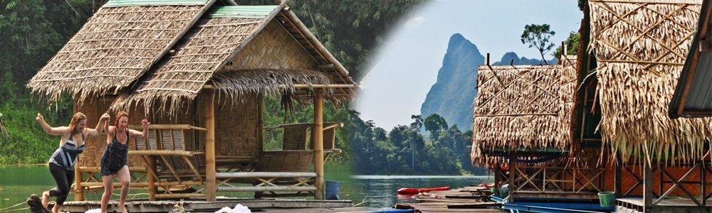 Khao Sok Lake Bamboo Floating Bungalows boasts beautiful surroundings and charming bamboo huts