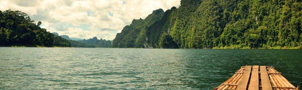 Floating Bamboo Raft a way to explore Khao Sok Lake