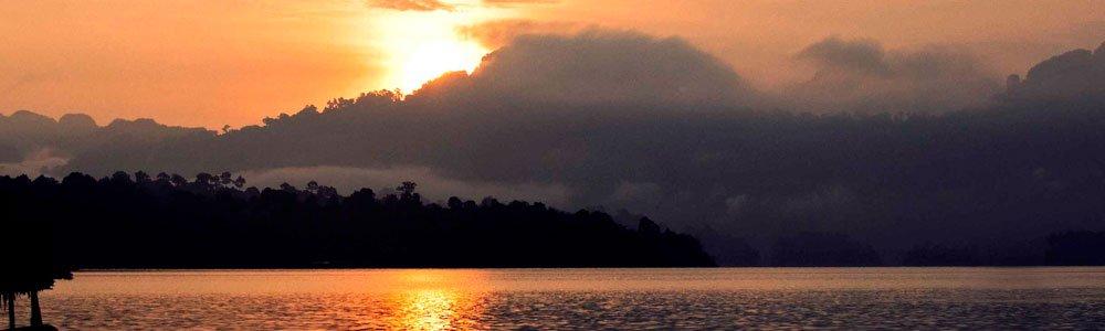 breathtaking views at Krai Son Raft House