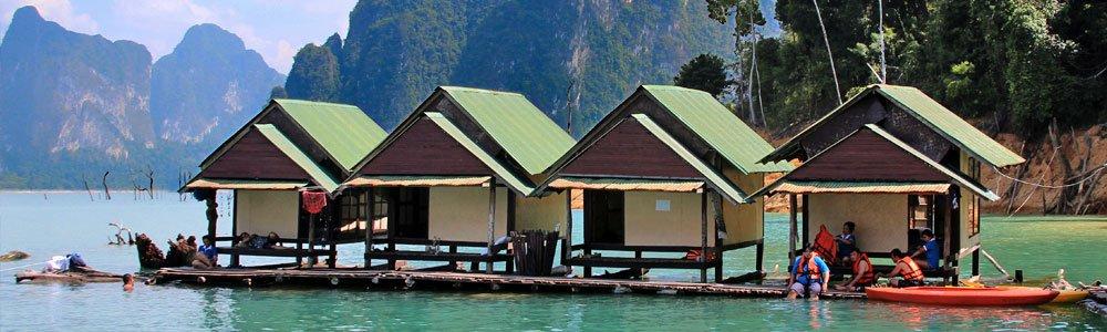 Nang Prai Raft House on Cheow Lan Lake in Khao Sok