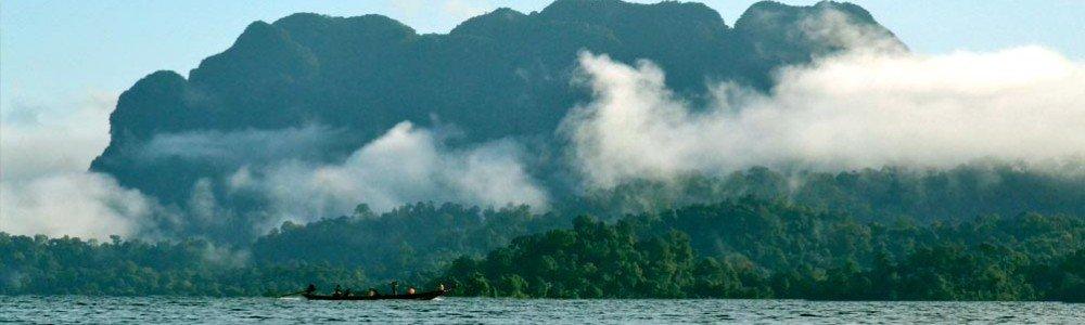 Morning Mist Floating over Khao Sok Lake