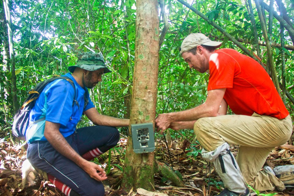 Removing Camera Trap in Khao Sok, searching for Wildlife in Thailand