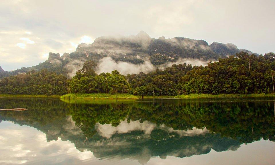 The view from Tam Gia raft house, Khao Sok Lake