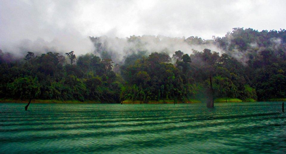 Mist and rain along the banks of Klong Saeng
