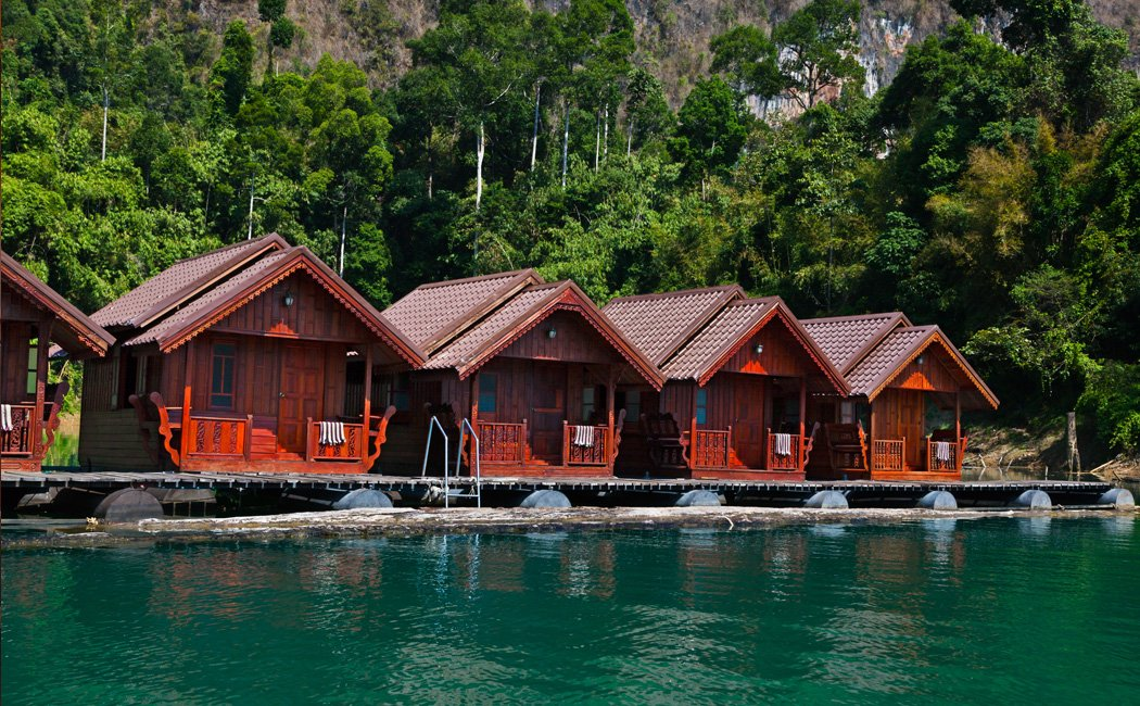 Khao Sok Lake Modern Comforts Floating Bungalows