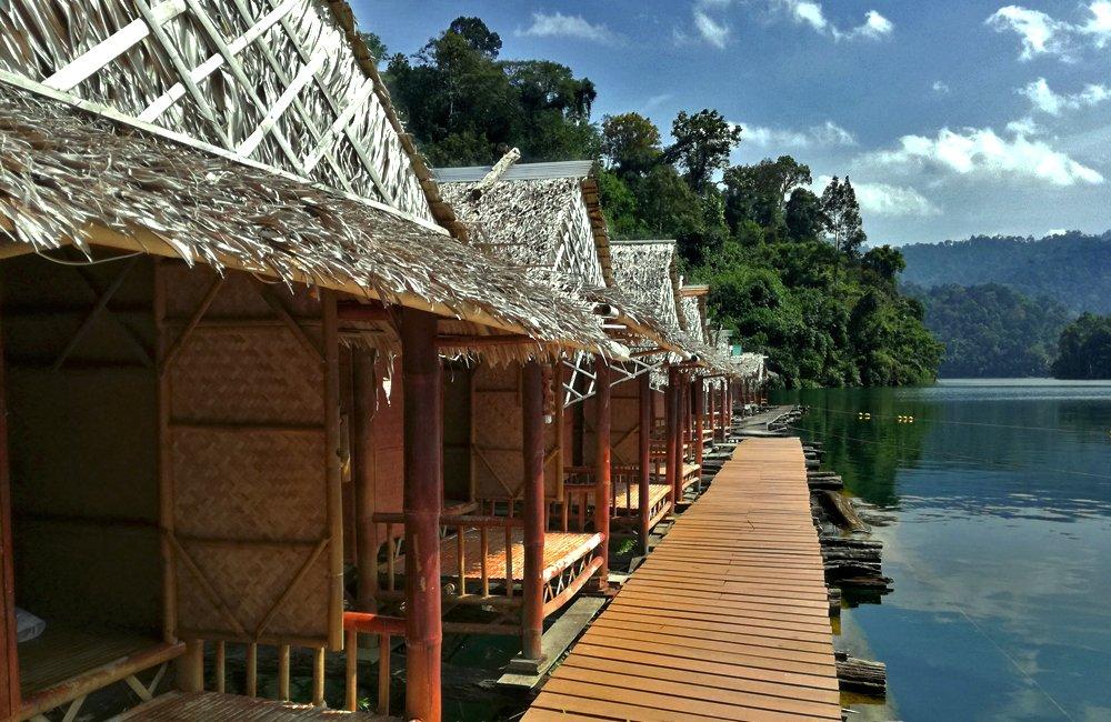 thai-style bamboo bungalows
