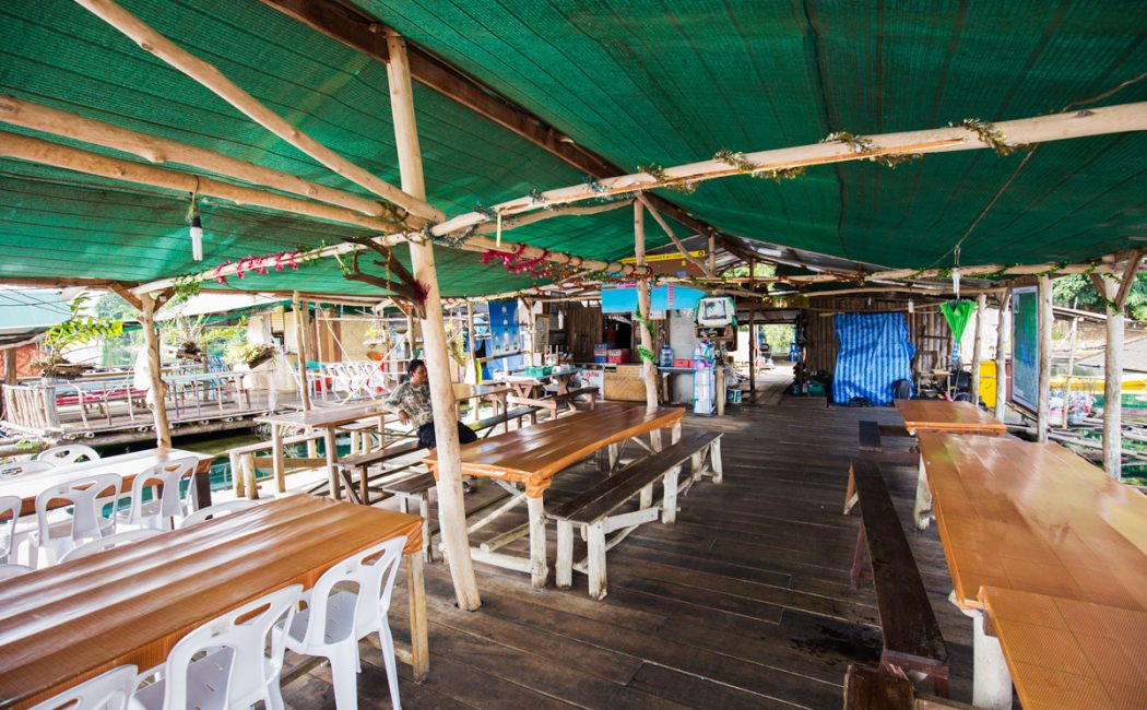 Restaurant at Krai Son Raft House, Khao Sok Lake